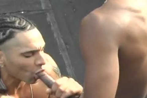 ebony gay Rooftop Sex With Rico And Duke