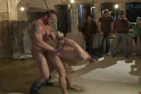chained homosexual ganghammer fucked