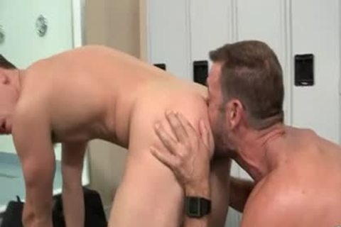 hairy Muscle dad And twink
