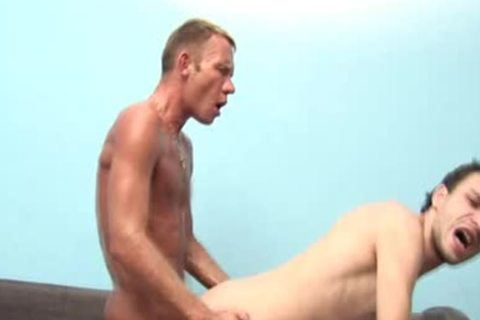 submissive gay lad Sucks blonde schlong And gets pounded