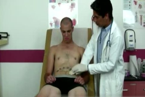 Tattooed Tall guy acquires his nuts Examined By A lascivious Doctor