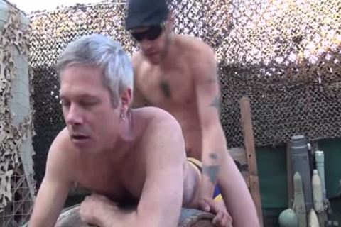 Blond guy receives His butthole Rimmed And poked Outside doggystyle