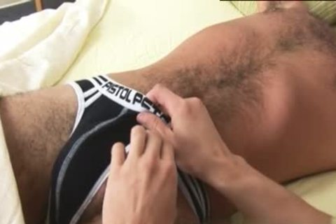Luscious dude receives A good handjob