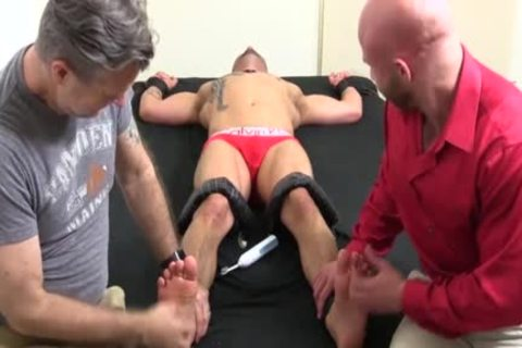 A Super pretty Or Trot Bald lad With Ink receives A hardcore Tickle Session