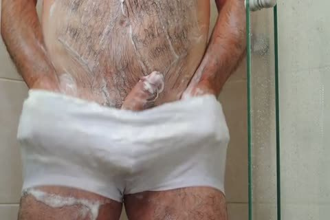 bushy Shower Masturbation