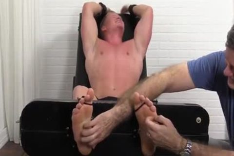 Hunky chap Seamus thonged And Tickled