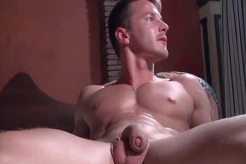 A Super Fit Muscle pecker receives His plump stiff penis Blown On My A Beard lad