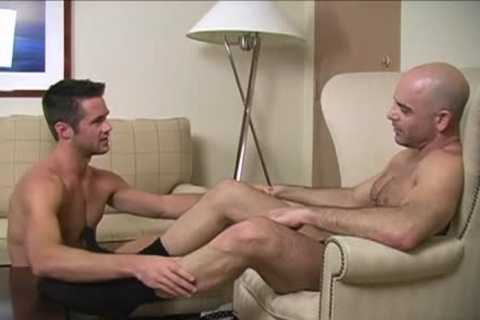 delicious homo Foot And cumshot