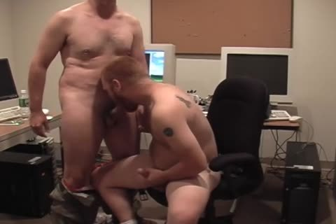 Two lascivious Hunks get nude In Tthis guy Office And bang asshole