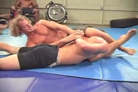Muscle young penises Wrestling