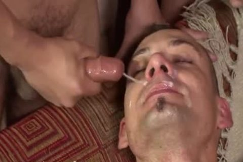 juvenile Bukkake slut acquires His butthole Filled With man meat