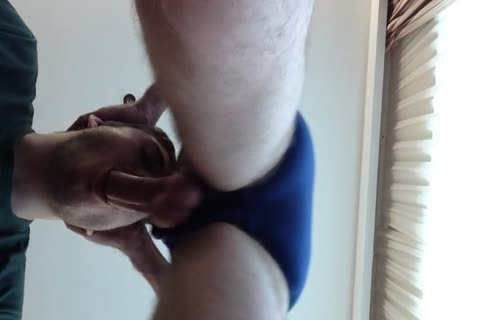 engulfing Off My Boyfriend In His dirty Blue Briefs. sperm shot To pursue As clip Was Too long previous to.