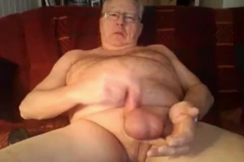 grand-dad jerk off And sperm On cam