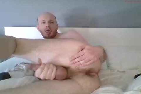 boy Masturbating, Fingering And Cumming After Taking Humiliating Poses