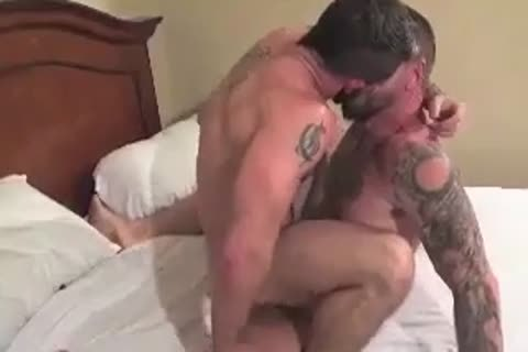 humongous Bear Daddy Breeds taut anal plow taut aperture In Some nasty Barebacking Session
