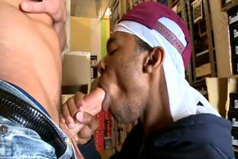 sexy homosexual Interracial With anal cumshot