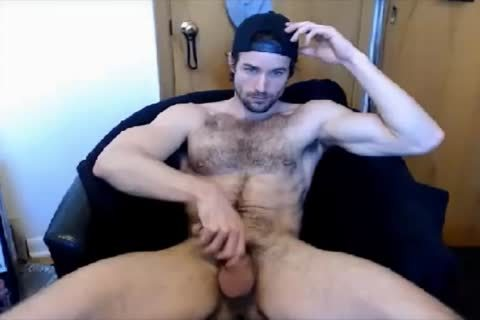 fashionable hirsute lad handjob On webcam