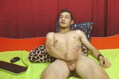 (No3) Romanian attractive homosexual boy Cums And Eats It On web camera, Very tasty tight anus