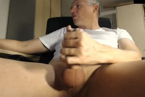 daddy Jerking His penis At The Office