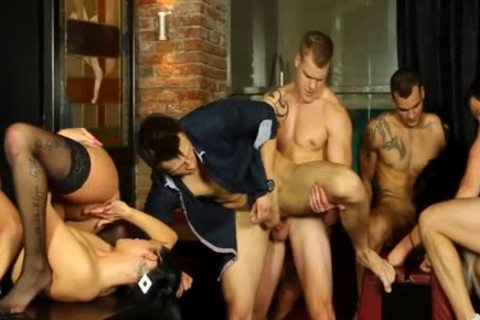 gays And gals orgy In undress Club three