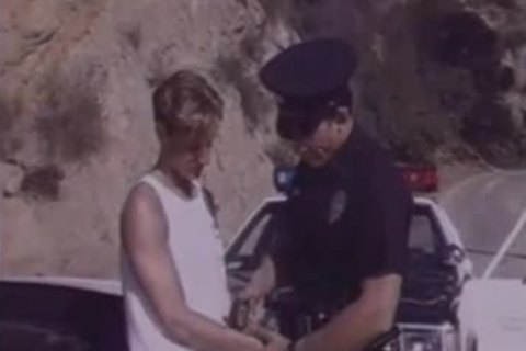 twink Arrested By Cop & Hard banged.