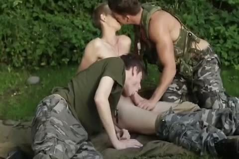 pretty Army twink With Great weenie slamming raw