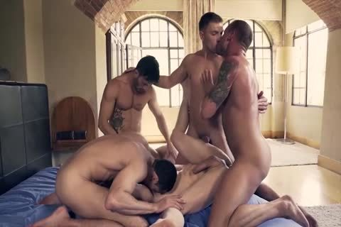large Muscled And Tattooed gays Likes ass stab