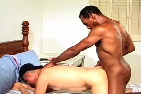concupiscent ebony fellow fucks A taut anal doggy style