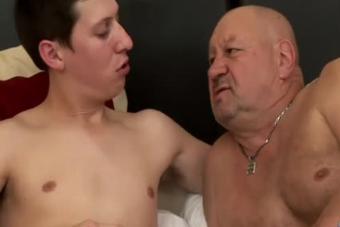 massive Dicked twink bonks old fat grandad