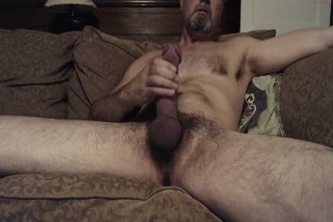 Hung hirsute Daddy With A large knob