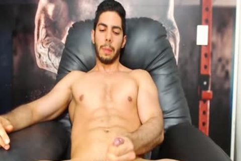 Aaron Clayton On Flirt4Free - Gaming Latino chap Strokes His Monster cock