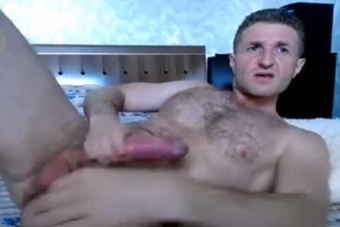 Russian Adonis wank His enormous knob