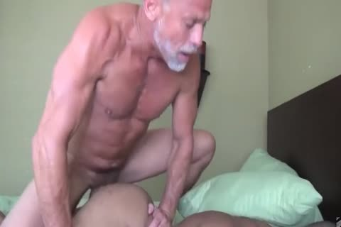 grandpa plows His Muscled darksome Toyboy